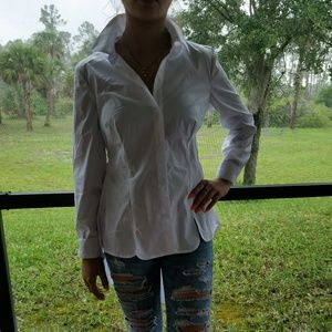 New York & Company Tops - NWT NY&C hi-low button down top